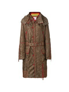 Christian Dior Vintage HOODED LONG COAT - Brown