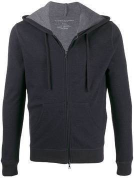 Majestic Filatures knitted zip up hoodie - Blue