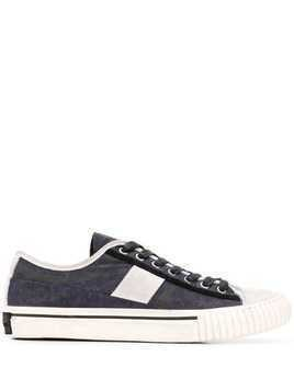 John Varvatos patterned low top sneakers - Blue
