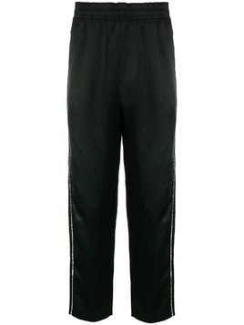 Damir Doma side-stripe track trousers - Black