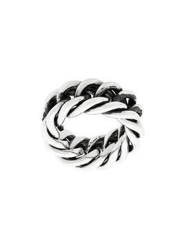 Ugo Cacciatori fine chain ring - Metallic