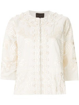 Biyan embroidered short jacket - White