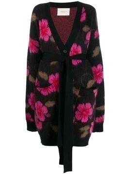 La Doublej Hawaiian flower cardi-coat - Purple