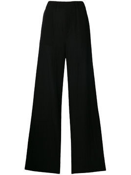 Blanca long flared trousers - Black