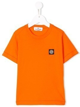 Stone Island Junior logo patch T-shirt - Orange