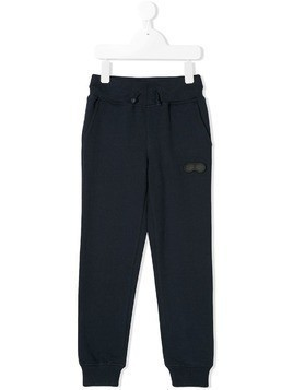 Ai Riders On The Storm Kids logo plaque track pants - Blue