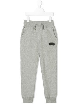 Ai Riders On The Storm Kids logo plaque track pants - Grey