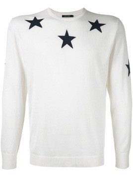 Guild Prime star embroidered sweater - White