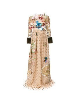 Gucci embroidered polka dot tulle gown - Nude&Neutrals