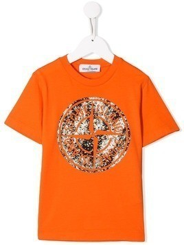 Stone Island Junior branded T-shirt - Orange