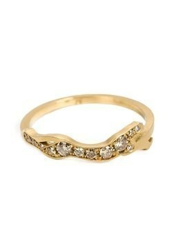 Marc Alary diamond 'Cheetah Cycle' ring - Metallic