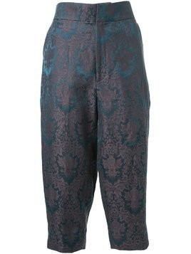 Aganovich baroque jacquard cropped trousers - Green
