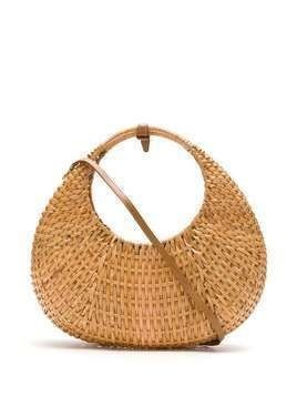 Serpui straw clutch - NEUTRALS