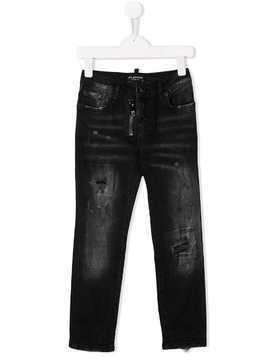 My Brand Kids TEEN mid rise distressed jeans - Black