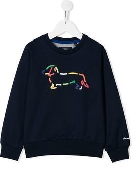 Harmont & Blaine Junior branded sweatshirt - Blue