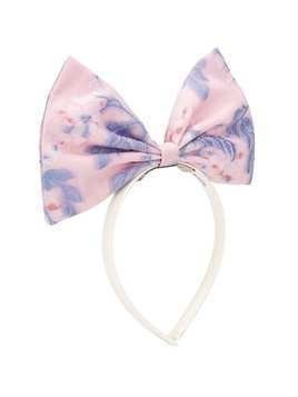 Hucklebones London oversized bow floral print headband - PINK