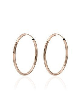 Jacquie Aiche gold smooth hoop earrings - Metallic