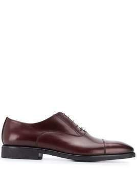 Corneliani lace-up oxford shoes - Red