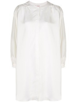 Eres batwing sleeve shirt dress - White