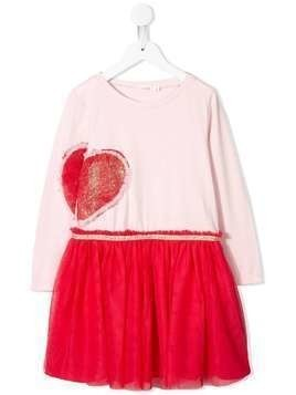 Billieblush heart-patch tulle dress - Pink