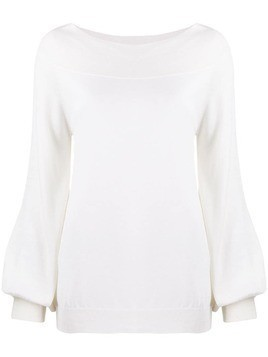 P.A.R.O.S.H. bell sleeve sweater - White