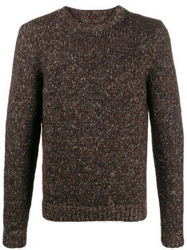 MP Massimo Piombo melange knit jumper - Brown