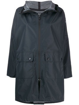 Ecoalf zipped hooded coat - Grey