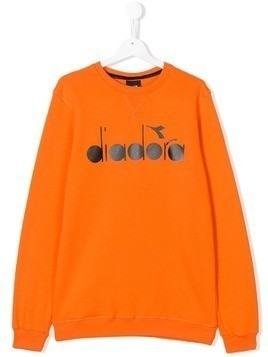 Diadora Junior TEEN logo print sweatshirt - Yellow