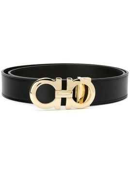 Salvatore Ferragamo logo plaque belt - Black
