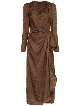 Attico silk draped maxi dress - Brown