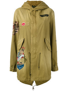 Mr & Mrs Italy tattoo print parka coat - Green
