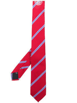 MSGM diagonal stripe necktie - Red