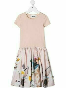 Molo Cissa floral organic cotton dress - PINK