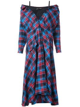 Anna October plaid maxi dress - Red