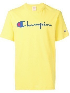 Champion embroidered logo T-shirt - Yellow