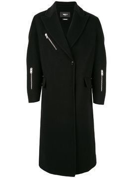 Yang Li single-breasted zip coat - Black