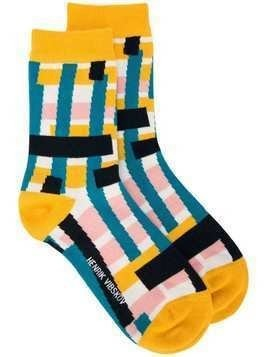 Henrik Vibskov Skyline socks - Yellow