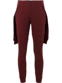 Aganovich contemporary track pants - Red