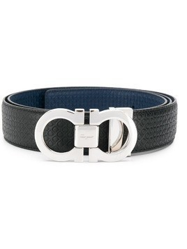 Salvatore Ferragamo reversible and adjustable Gancini belt - Blue