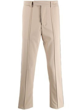 Gcds stripe trim trousers - Neutrals