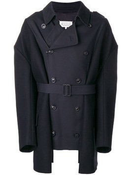 Maison Margiela panelled trench coat - Blue