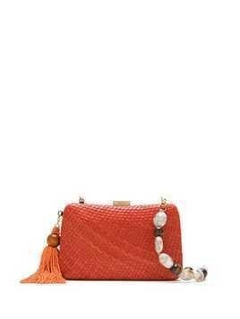 Serpui straw bag - ORANGE