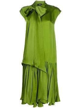 Rochas pussybow straight fit dress - Green