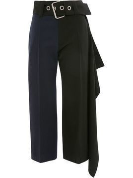 JW Anderson oversize belt cropped trousers - Black