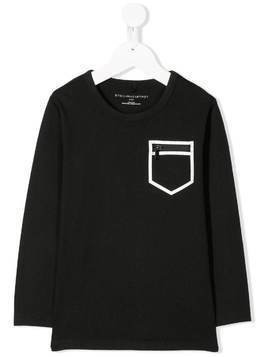 Stella McCartney Kids zipped pocket T-shirt - Black