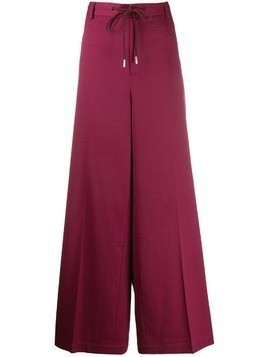 Mm6 Maison Margiela wide leg trousers - Red
