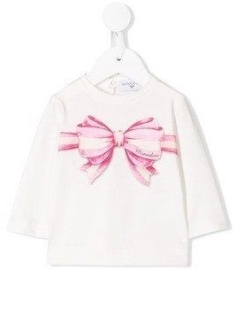 Monnalisa bow-print top - White