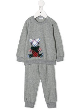 Il Gufo checked bear tracksuit - Grey