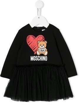 Moschino Kids Toy Bear tutu dress - Black