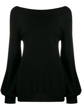P.A.R.O.S.H. bell sleeve sweater - Black